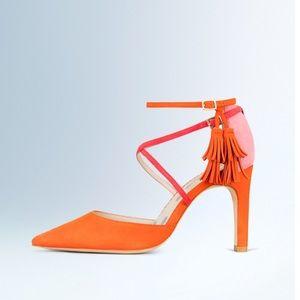 Boden Amelia Spectator Heel in Pink and Orange
